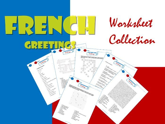 French Greetings:  Collection of 6 Worksheets