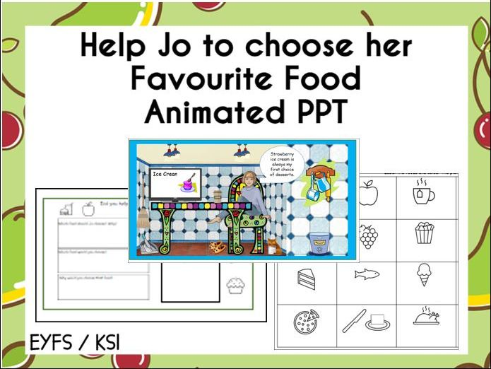 Help Jo to Choose her Favourite Food PPT