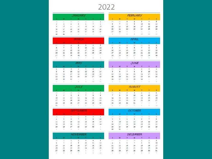 2019-2022 Calendar