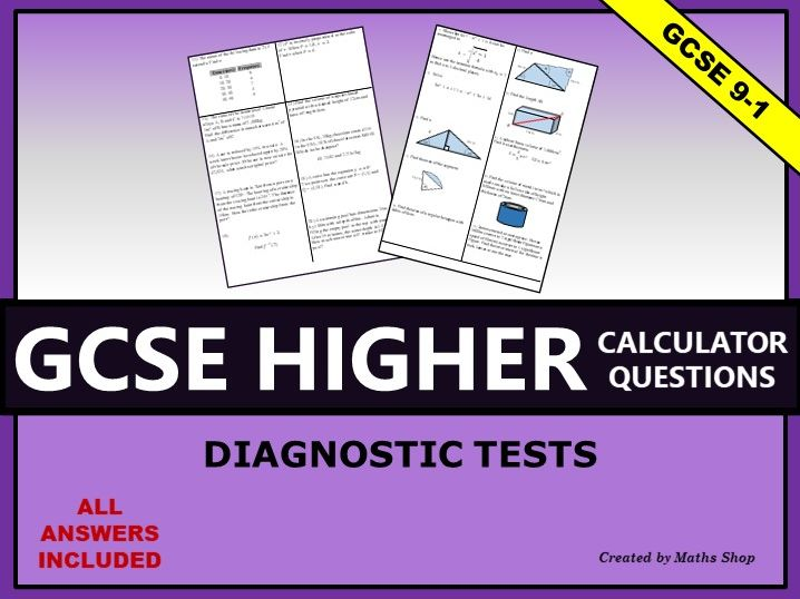 Mixed Calculator Questions GCSE Higher