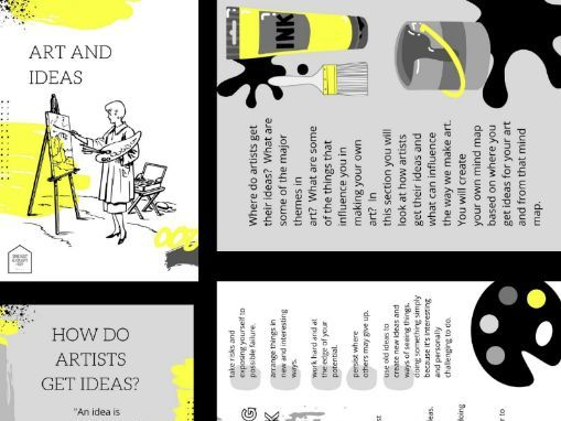 Art & Ideas 10 Page Booklet | Creating Ideas For Art | Appropriate for Remote Teaching & Learning