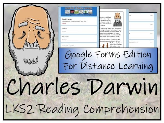 LKS2 Charles Darwin Reading Comprehension & Distance Learning Activity