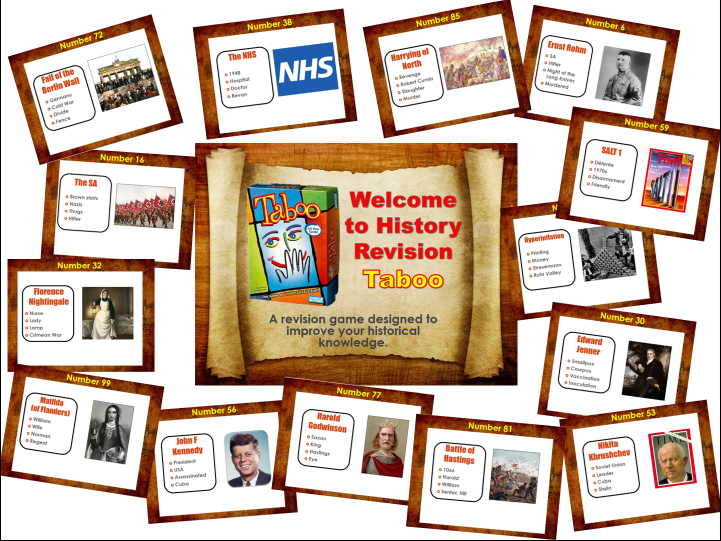 History Revision - Taboo Game