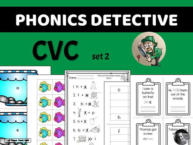 Phonics Detective -- CVC Set 2