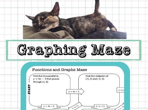Graphing Maze Linear Equations Distance Midpoint