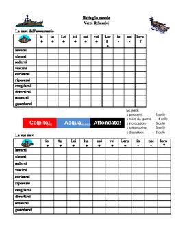 Verbi riflessivi (Italian Reflexive verbs) Battaglia navale Battleship game