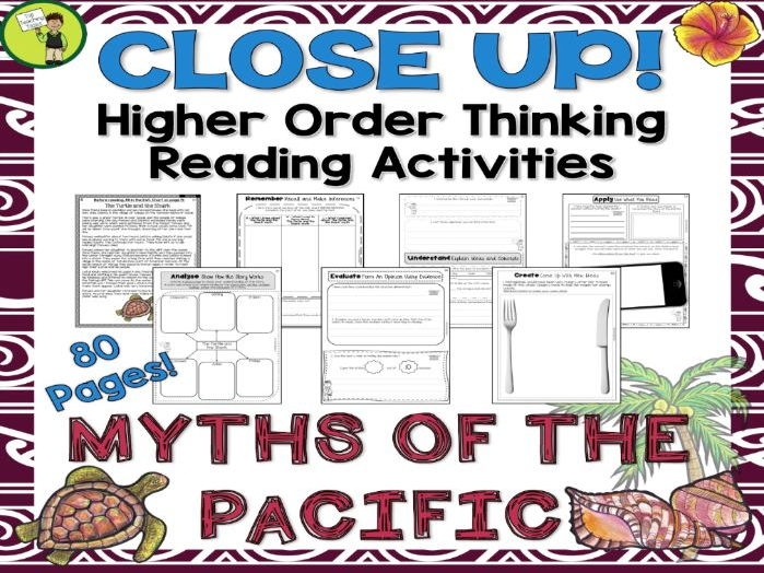 Myths of the Pacific - Seven Close Reading Texts with Higher Order Thinking