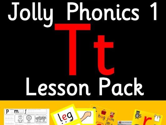 Phonics Worksheets, Lesson Plan, Flashcards | Jolly Phonics Letter T Lesson Pack