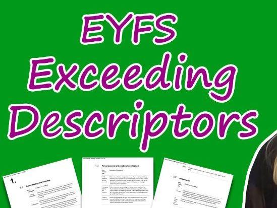 Exceeding Descriptors Explained