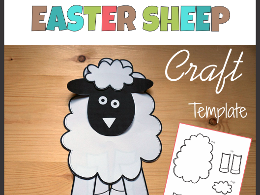 Sheep Craft Template - Cut and Paste