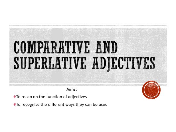 Comparative and Superlative Adjectives TEFL