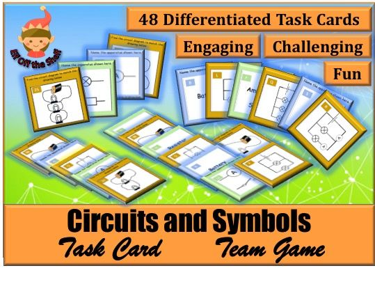 Electricity - Circuits and Symbols Task Card Team Game KS3