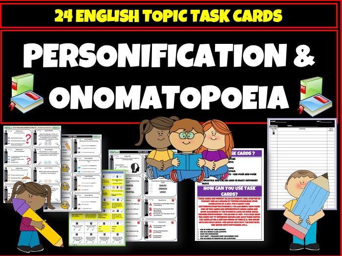 Personification  Onomatopoeia
