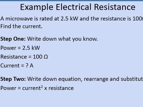GCSE OCR Physics: Electrical Power