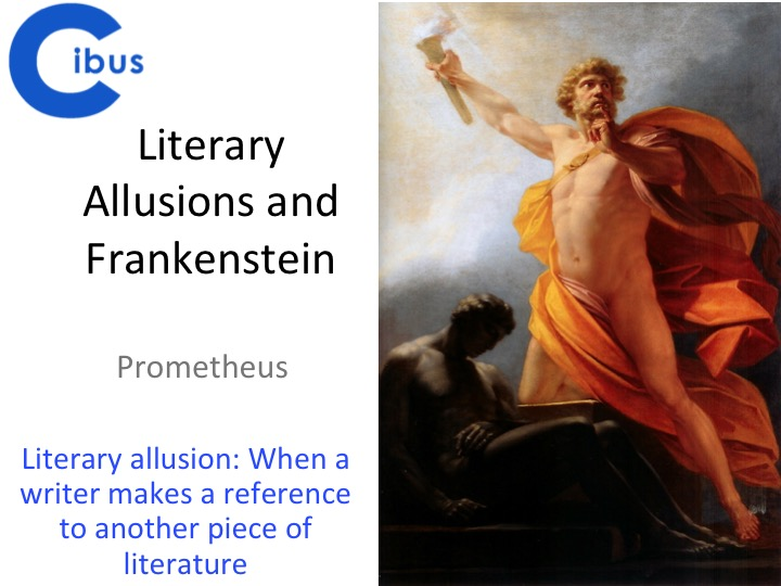 Frankenstein- GCSE and A Level  focus- Prometheus- before and after reading
