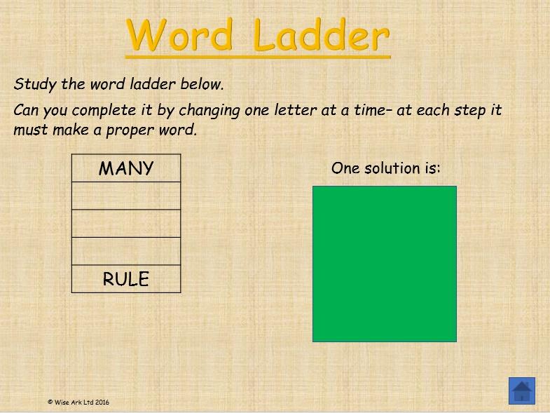 Word Ladders (free sample)