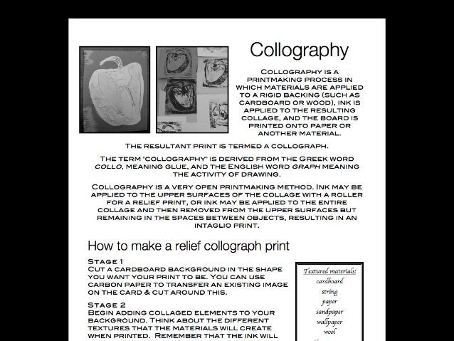 How to make a collograph