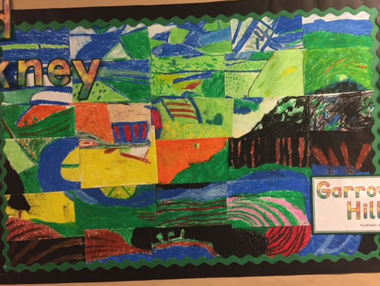 Year 2 Art lesson David Hockney (Landscapes)