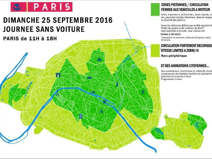 A Level IB Reading Comprehension on environment: journee sans voiture a Paris,  l'environnement