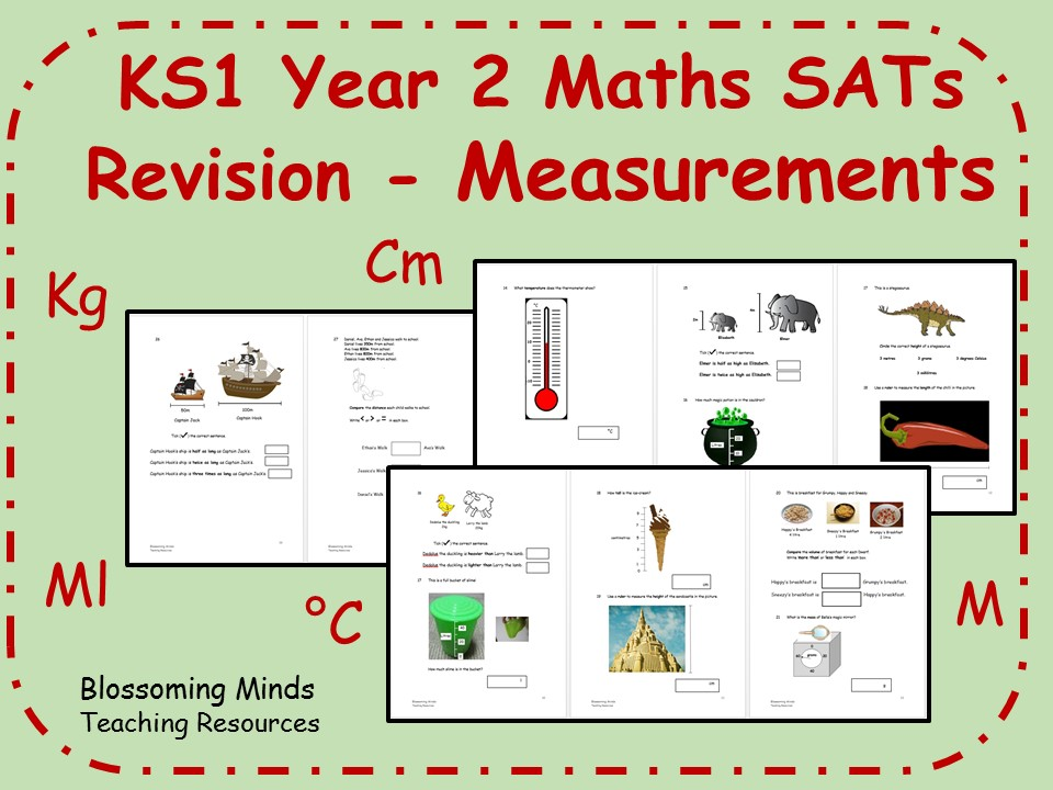 KS1 Year 2 Maths SATs Revision - Measurements - Differentiated Levels