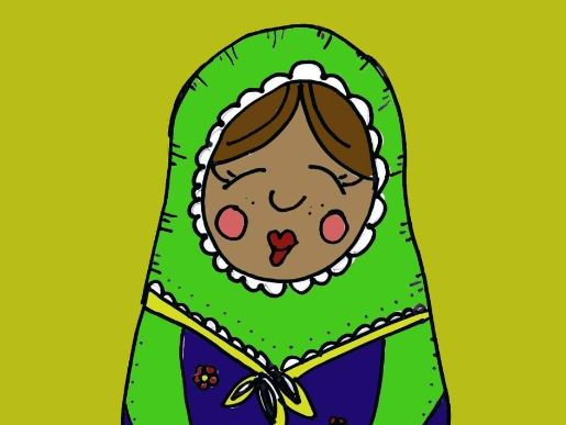 Mindfulness colouring: Russian Dolls