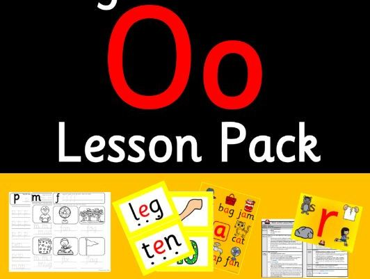 Phonics Worksheets, Lesson Plan, Flashcards | Jolly Phonics Letter O Lesson Pack