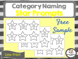FREE Category Naming prompts - Divergent Naming - Vocabulary Booster