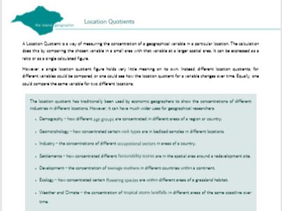 Location Quotients