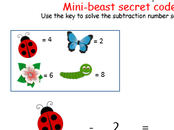 4 mini-beast subtraction activities differentiated Reception/ Year 1