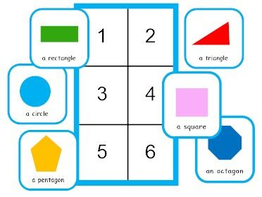2D shapes game for pupils new to English