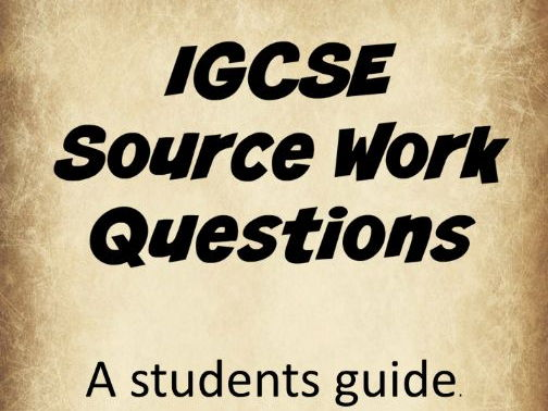 IGCSE History Source Work A Guide For Students
