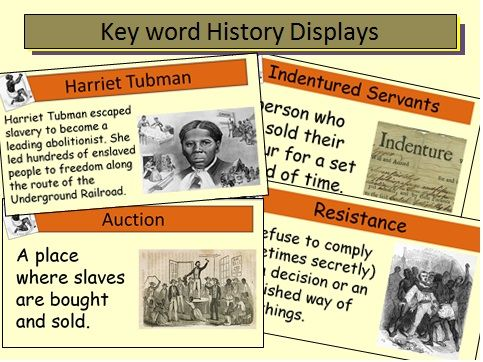 Slavery Key Word History Display