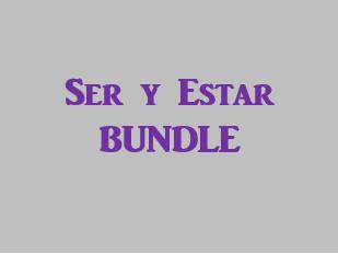 Ser y Estar Spanish verbs Bundle