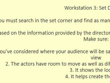 Workshop focused on the backstage roles
