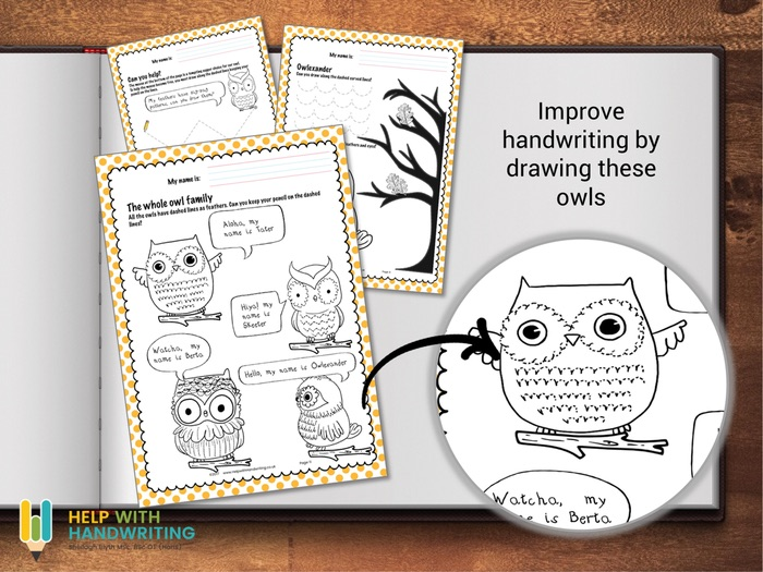 cursive handwriting owls by helpwithhandwriting teaching resources. Black Bedroom Furniture Sets. Home Design Ideas