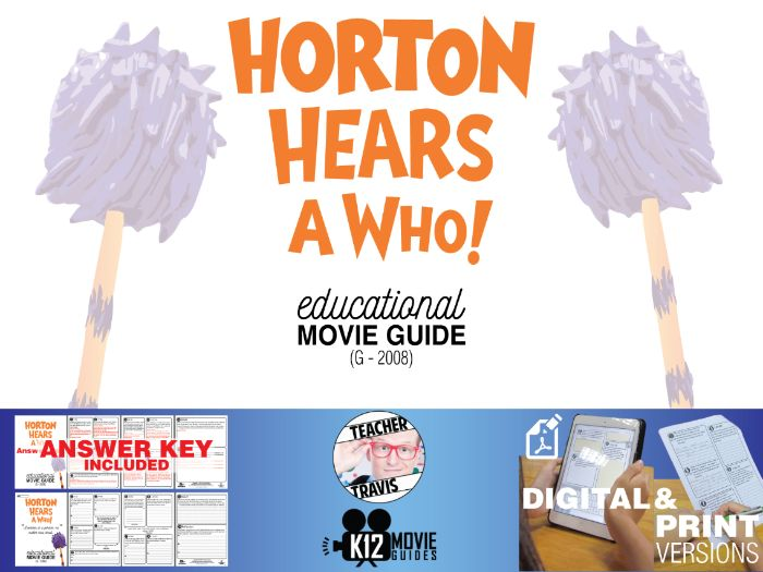 Horton Hears a Who! Movie Guide | Questions | Worksheet (G - 2008)