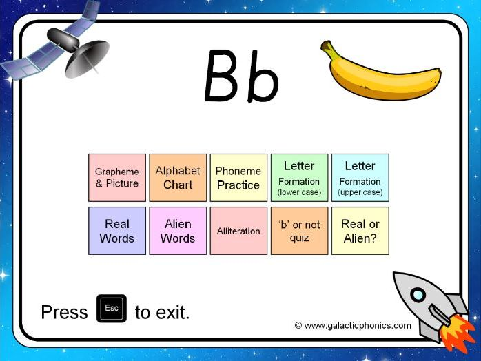 The letter 'b' PowerPoint (Phase 2)