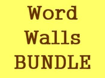 Word Walls in German Bundle