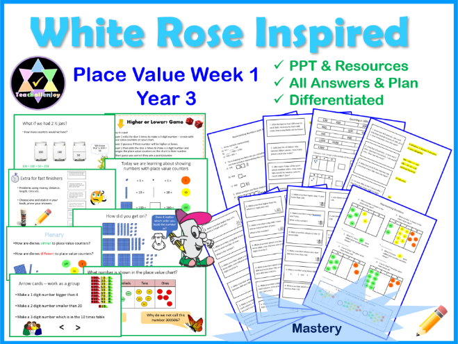 Place Value Year 3 Lessons Week 1