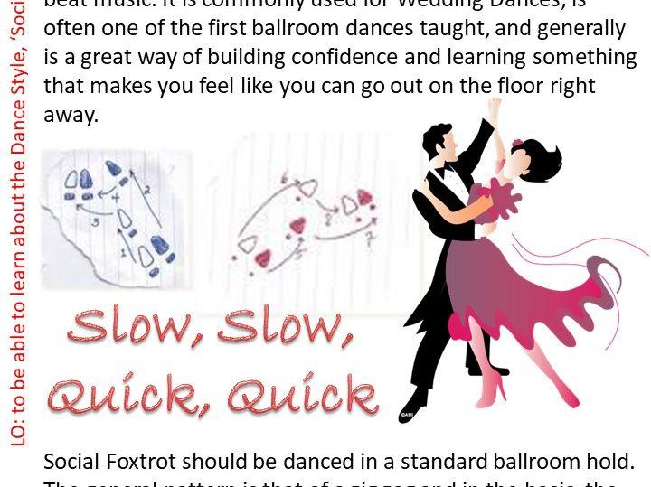 Social Foxtrot Dance Resource Card