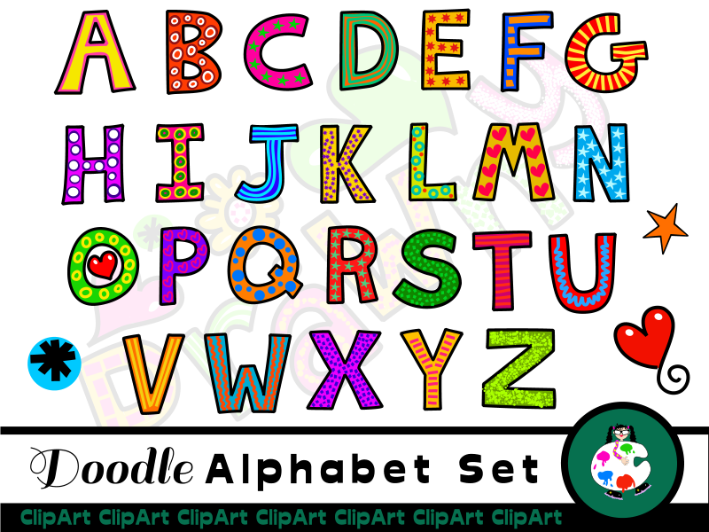 Uppercase Capitals Alphabet Clip Art