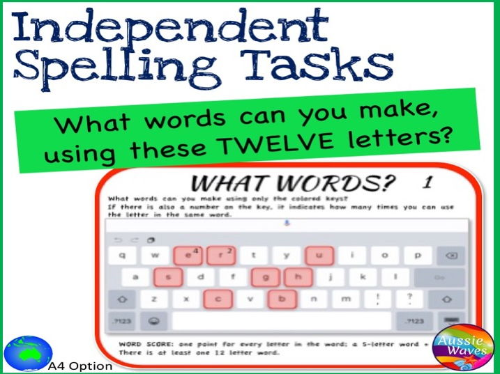 Independent Spelling Game And Word Building Activity Boggle 12