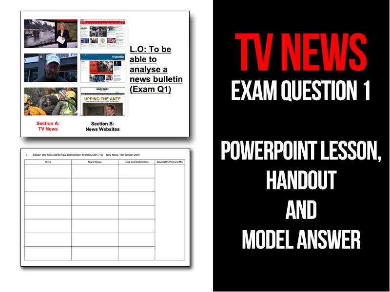TV News - Question 1 from WJEC GCSE Media exam