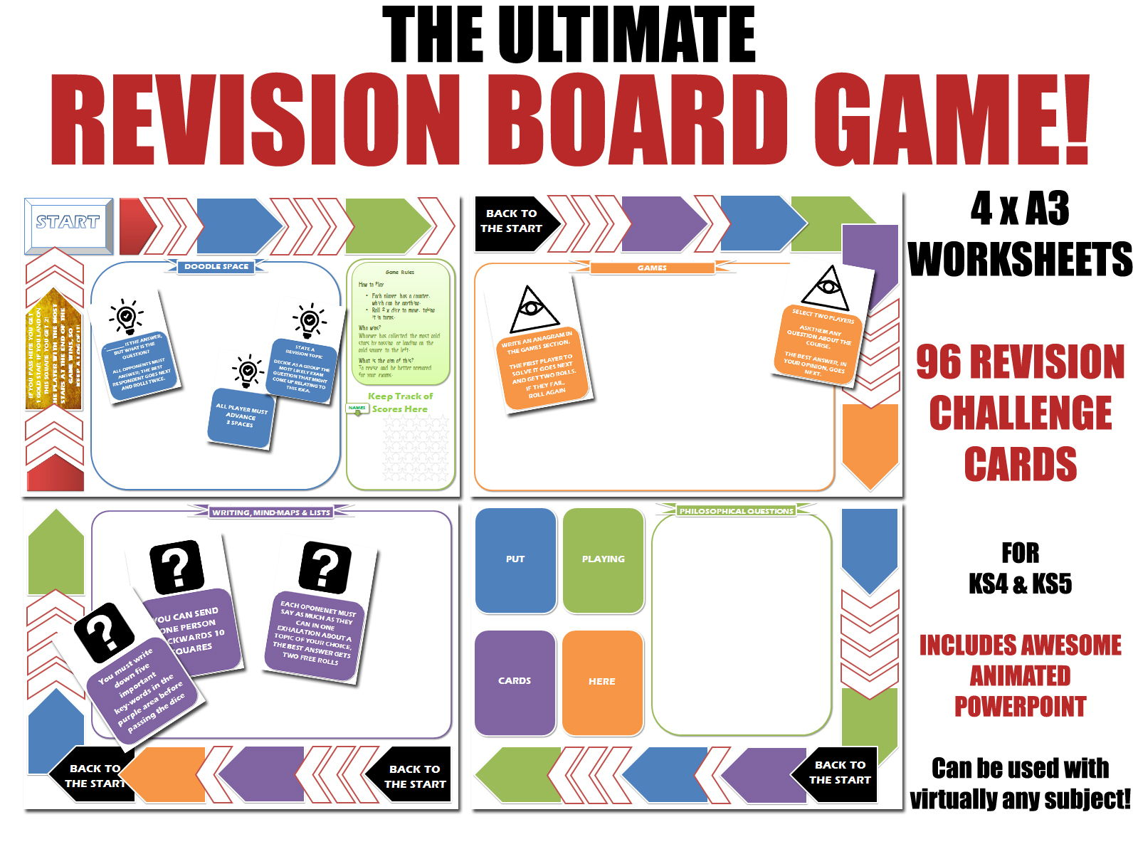 GCSE Geography - REVISION BOARD GAME - Bundle