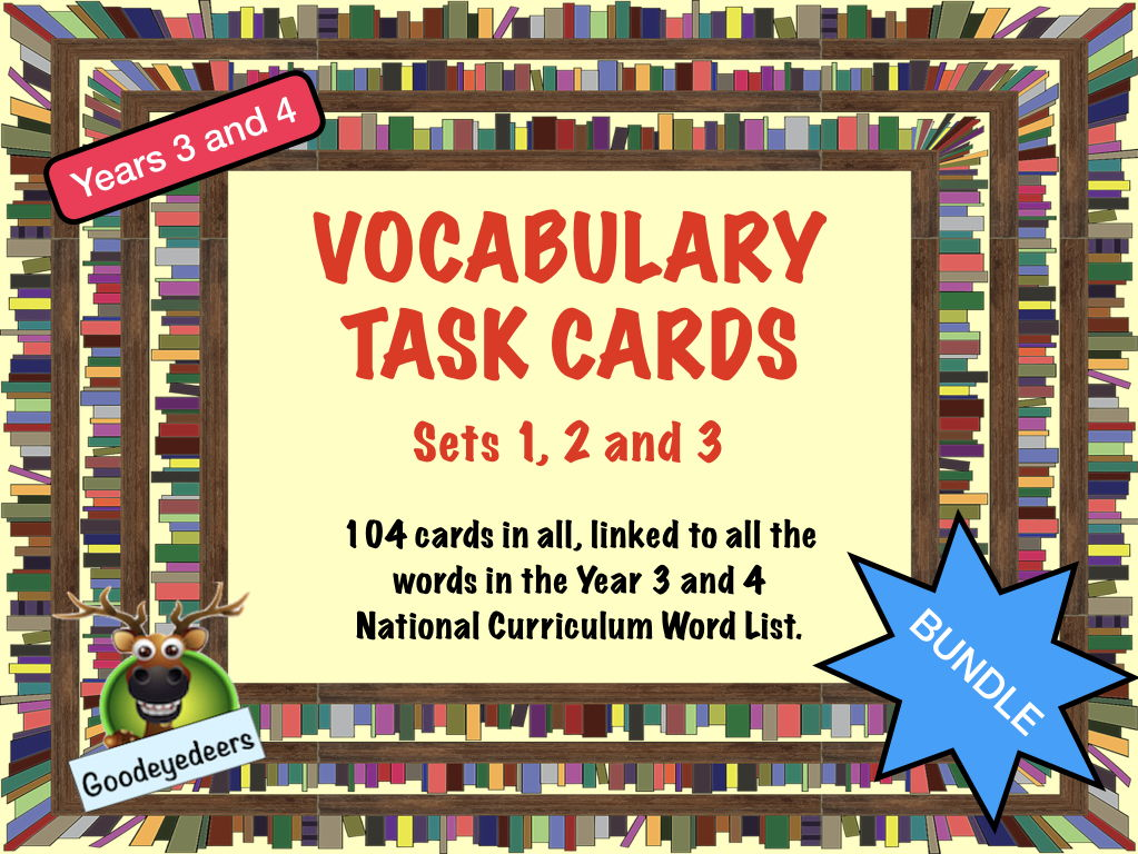 Vocabulary Challenge Cards Year 3/4 Word List