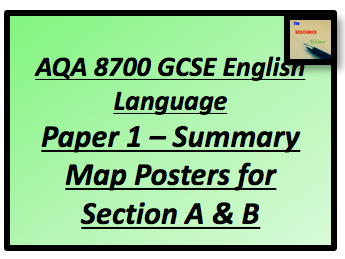 AQA 8700 GCSE English Paper 1 Section A & B Summary Map Posters