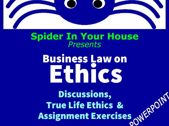 ETHICS CIVICS Business Law > Spider in Your House Series- Activities Galore! ~Popular Powerpoint