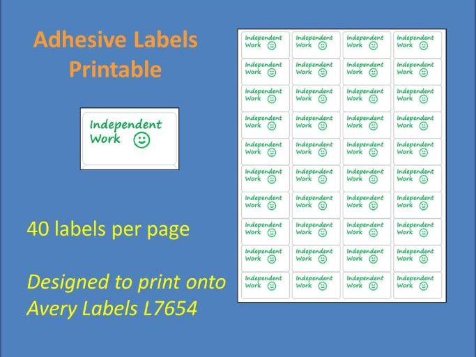 Independent Work Adhesive Label Printable Time Saving Marking Sticky Label L7654