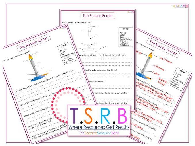 The Bunsen Burner Worksheet (Inc. Answers)