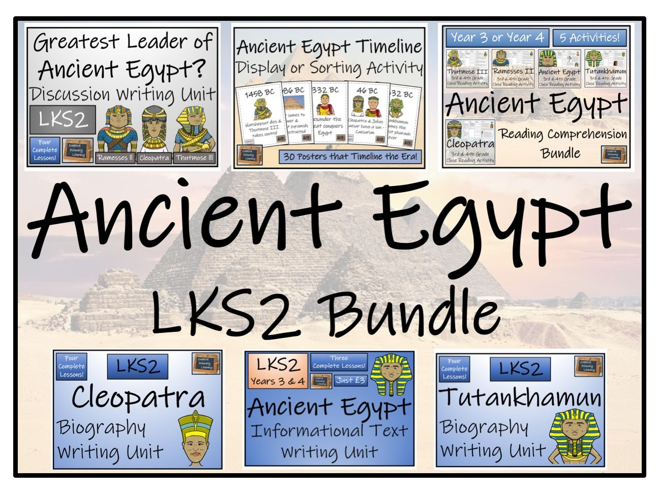 LKS2 Ancient Egypt Reading Comprehension & Writing Bundle